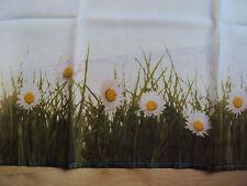 2 Kurzgardinen Scheibengardinen Panneaux Margerite weiß B/H 120 x 60 Schlaufen