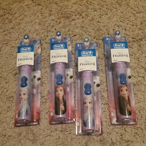 Oral-B Kids Battery Powered Electric Toothbrush Disney's Frozen II NEW! Lot of 4