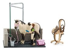 New Schleich Horse Wash Area Includes Horse & Carer Groomer 42104 Farm Life