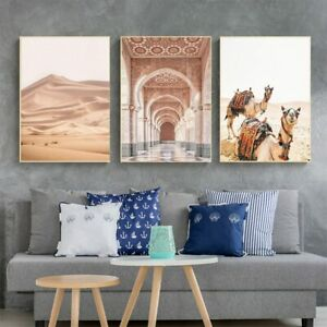 Camel Desert Landscape Morocco Door Nordic Posters And Prints Wall Art Canvas