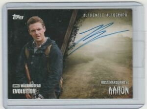 TOPPS WALKING DEAD EVOLUTION ROSS MARQUAND/AARON AUTOGRAPH CARD  #/50!!