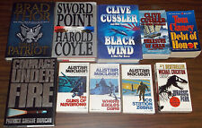 10 Adventure/Techno-Thriller /Military Novels, 4 Hard Covers & 6 Paperbacks