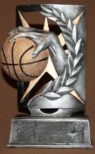 Hand made metal coated basketball statuette