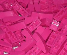 LEGO 10 PINK MAGENTA Slopes Curved 3 x 1 No Studs