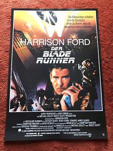 Blade Runner Filmplakat Poster A1, Harrison Ford, Gerollt, Reprint, R. Hauer
