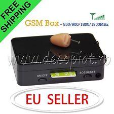 Spy Earpiece Invisible GSM Bluetooth Box Hidden Micro Wireless Earphone Covert