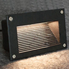 Outdoor 3W LED Wall Corner Light Steps Stair Recessed Lamp Fixture+ Wiring Box