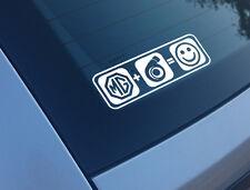Mg Plus Boost equivale a Sonrisas etiqueta engomada del coche Funny calcomanía Turbo Metro Zr Zt Zs
