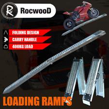 Ramps Steel Folding Pair 400KG 1.8 Metre Trailer Motorbike Ride On Mower