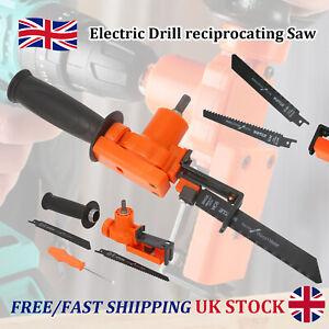 Electric Cordless Drill Reciprocating Saw Cutter Metal Wood Cutting Tool Kit UK