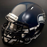 *CUSTOM* SEATTLE SEAHAWKS NFL Riddell SPEED Full Size Replica Football Helmet