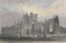 1842 Three Engravings - SCOTLAND - Stirling & Lochleven Castles, Melrose Abbey