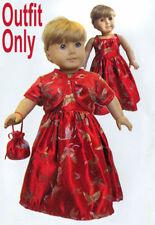 "New ""Red Satin Evening Dress""  #87313L fits 18"" American Girl Dolls"