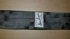True Vintage Mod Skinny Tie 1980s Necktie Don Loper All Silk Gray Black