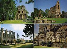 4 Uncirculated Postcards - views Wenlock Priory Ruins Shropshire (Salop) Ex Con