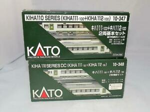 N Scale KATO KIHA110 Series 10-347 & 10-348 Combined Set