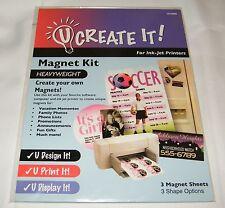 3 Magnetic Sheet Pack for Inkjet Printers: Full, Business Card, Circles