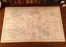Original Antique Civil War Map VIRGINIA Bethesda THE WILDERNESS Spotsylvania VA