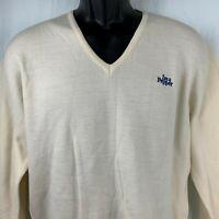 Vintage Andreno Argenti Knit Sweater L Ivory V Neck Im A Pepper Dr Pepper Wool