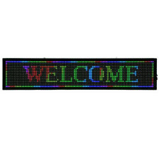 Business Sign Board Light Scrolling Message Display 40x8 Programmable 7 Colors