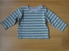 Baby Boys Top 3-6 months - 100% cotton - Striped grey green blue white