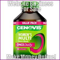 VITAMINS AND MINERALS Website Business Earn £67 A SALE|FREE Domain|FREE Hosting