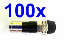 Lot 100 Coax RG6 Cable Compression Male Connectors PPC EX6XLWSPLUS Outdoor Seal