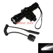 UltraFire 501B CREE XM-L L2 LED 1Mode Tactical Flashlight + Mount Remote Switch