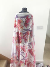 Tropical Summer Blooms  Floral & Flower Print Washed Chiffon Dress Fabric 1.8mt