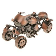 Retro Metal 4 Wheels Motorcycle Model Home Decoration Handmade Crafts Bronze