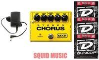 MXR Dunlop M-134 Stereo Chorus Guitar Effects Pedal M134 ( 3 SETS OF STRINGS )
