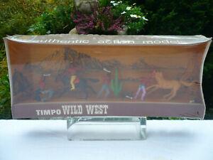 Timpo Toys WILD WEST ORIGINALVERPACKUNG INDIANS 3/4/2
