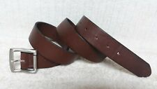 KENNETH COLE - Men's Casual BELT - BROWN Leather - Silver Tone Buckle - Size 38