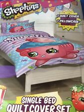 SHOPKINS LITTLE SWEETIE  GIRLS SINGLE bed QUILT DOONA DUVET COVER SET NEW