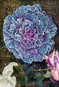 Original oil painting - Lacey Garden, by Australian artist Marina Strijakova