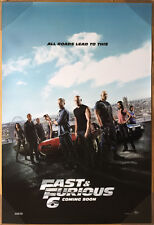 FAST & AND FURIOUS 6 MOVIE POSTER 2 Sided ORIGINAL INTL 27x40 VIN DIESEL