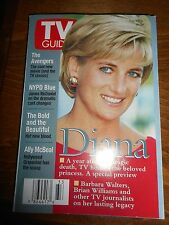 Princess Diana on TV Guide Magazine Aug 15th to 21st 1998 NEW