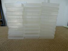 Cassette Boxes (Nylon Clear) Lot of 30 x Tape Boxes