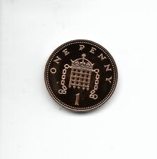 1984 1p Royal Mint Proof 1p coin taken from a Royal Mint Proof Set.