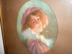 ANTIQUE 1920-30s  FRENCH WATERCOLOUR SIGNED RENE PEAZ