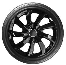 """4x Wheel Covers Hub Caps 16Inch Universal Wheel Trims ABS 16"""" Trim [STIG Black]"""