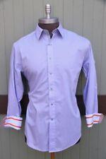Robert Graham X Purple Lavender Hidden Standard Cuff Dress Shirt SZ L