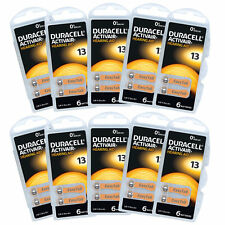 60 x Duracell Hearing Aid Batteries Size 13 Orange ~ Exp 2020-06