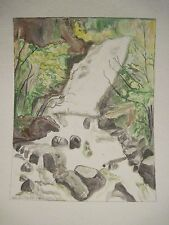TORC WATERFALL Lakes of Killarney Ireland Original Watercolor Painting 7x9/11x14
