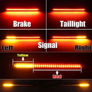 32 SMD Red Universal LED Bar For Brake Tail Light & Left/Right Turn Signal Lamp