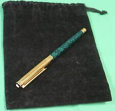 "Montblanc Noblesse Fountain Pen Green Marbled ""MK"" Monogram"