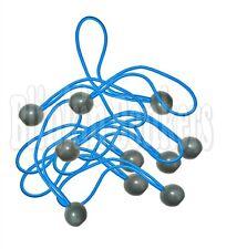 20 STRONG ELASTIC BUNGEE BALL TIE DOWN LOOP STRETCH CORD TARPAULIN TARP TENT 19A