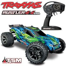 NEW Traxxas Rustler 4x4 VXL Brushless RC Stadium Truck GREEN w/TSM - FREE SHIP!