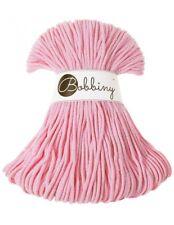 Bobbiny koord color: BABY PINK / 100% Cotton 5mm Bobbiny Rope 100m  Macrame Cord