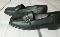 Classic Elements Mandy Black Flat Loafers Shoes Size 6 1/2 M